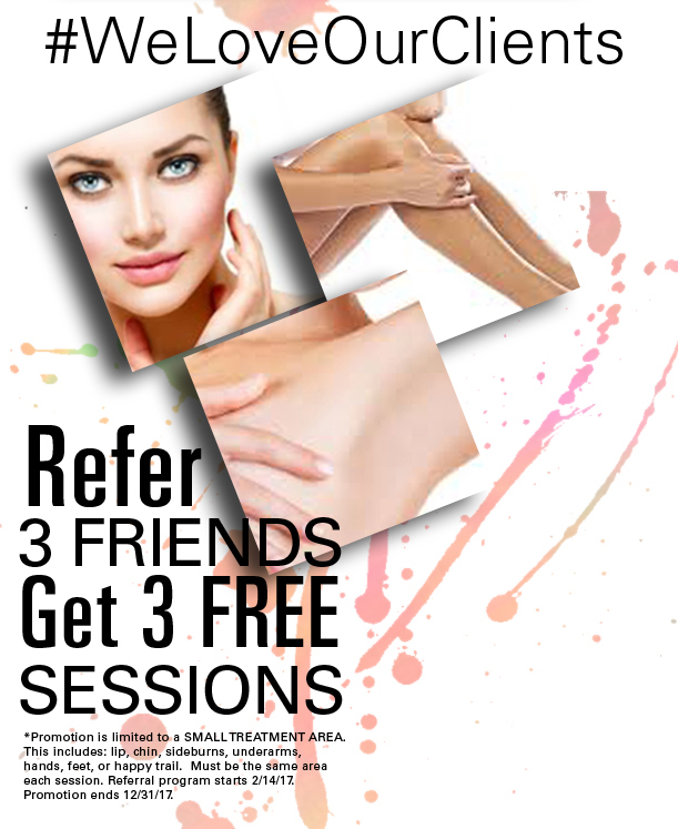 Refer 3 Friends and get 3 free sessions!